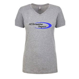 Womens V Neck Grey T-Shirt